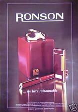 PUBLICITÉ 1980 BRIQUET RONSON UN LUXE RAISONNABLE - ADVERTISING