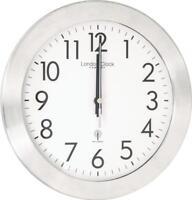 London Clock Company White Radio Controlled Wall Clock