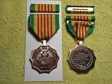 Vietnam Era Medal & Ribbon with Army Navy Air Force Marines Coast Guard