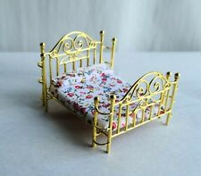 GORGEOUS HALF SCALE DOLLHOUSE MINIATURE BRASS BED, NEW!