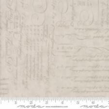 Moda 3 Sisters Quill Script Ledger Fabric in Tonal Parchment 44152-21