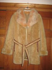 Shearling Lamb Skin Fox Collar Fur M 8