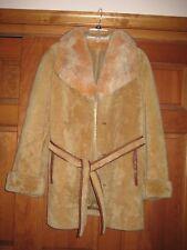 Shearling Lamb Skin Fox Collar Fur M 8