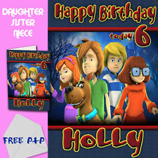 Scooby Doo - Personalised Birthday Card Daughter Sister Niece