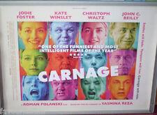 Cinema Poster: CARNAGE 2012 (Advance Quad) John C. Reilly Christoph Waltz