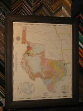 1845 REPUBLIC OF TEXAS MAP FRAMED