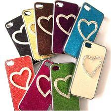 iPhone 4 4s Diamond Bling Heart Glitter Case