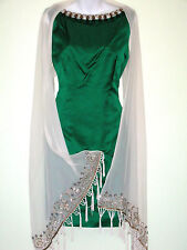 **$2860*sz 14** Gustavo Cadile Embellished Silk Cocktail Dress Top made in USA