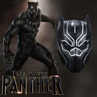 Adult Latex Marvel Black Panther Mask Helmet Avengers Costume Party Dress Up