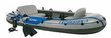 Intex Excursion 4 + Pump + Oars 4 person Dinghy Tender Fishing #68324