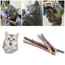 10pcs Cat Snacks Natural Matatabi Chew Catnip Stick Teeth Clean Brush-Toy M K6T9