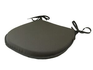Simply Grey D-Shaped Garden/Patio/Kitchen/Dining Tie-On seat pads *3 Sizes*