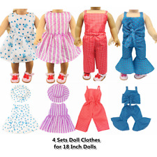 """Doll Clothes Accessories 4 Sets Doll Dress Hats for 18"""" Dolls Doll Outfits 68"""