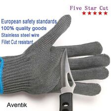Aventik one Fishing Fillet Gloves Stainless Steel Wire Cut Resistant Thread Tool