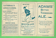 #D472. 1903 Queensland V Nsw Interstate Rugby Union Program