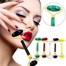 Naturale Jade Viso Massaggio Roller Bellezza Strumento Occhio collo Corpo Anti