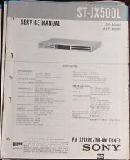 Sony ST-JX500L tuner service repair workshop manual (original copy)