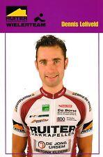 CYCLISME carte cycliste DENNIS LELIVELD équipe RUITER WIELERTEAM