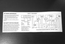 NEW! HUFFY HUFFMAN DAYTON RADIOBIKE VINTAGE BICYCLE TANK DECAL WIRE SCHEMATIC!