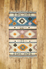 RRP £110 - URBAN OUTFITTERS HOME RUG Sundance Woven Wool Carpet 3' x 5' - NEW