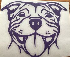 Staffordshire Bull Terrier Staffy Vinyl Decal Car Sticker Animal Dog Pet Window