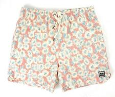 NEW INSIGHT DUSTY RED ACID FLORAL BATHING SUIT SWIM TRUNKS SHORTS SIZE 2XL