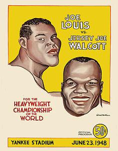 Joe Louis vs Jersey Joe Walcott Fight Program (1948), 8x10 Photo