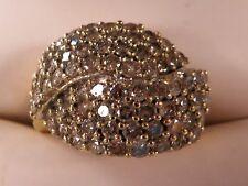 10K Yellow Gold Braided Diamond Ring Ladies Size 6 TCW 1.08 (8.6 grams)