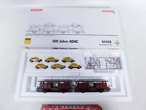 CQ518-1# Märklin H0/AC 94188 Wagen-Set Autotransporter 100 Jahre ADAC, NEUW+OVP
