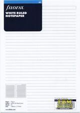 Filofax A5 size White Ruled (Lined) Notepaper Refill Organiser Insert 343008