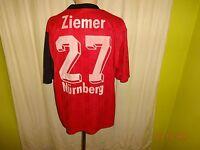 """1.FC Nürnberg Original Adidas Heim Trikot 1997/98 """"ARO"""" + Nr.27 Ziemer Gr.L TOP"""