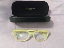 New Coach Women's OHC6094 Clear Brown  Glasses (Ivory Horn) (5423)