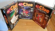 Clue Mystery Jigsaw Puzzle Lot of 3 500 pc Framed for Murder Masquerade Murder +
