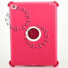 iPad Air 2 nd Gen Dustproof Hard Case w/Stand Fits Otterbox Defender Pink/White