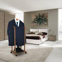 Confezione da 2 Basics Legno Appendiabiti da parete Noce 5 ganci moderni 57 cm