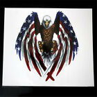 Eagle with american flag sticker helmet sticker Bumper stIcker Small