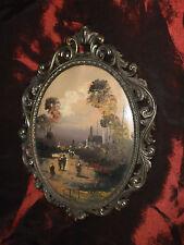 Cargnel Lucio (1903-1998) Olio su tela ovale cm.23x18 ca.  - Originale -
