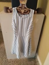 Forever 21 Striped Cut out Skater Dress Medium NWT Pin up