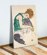 CANVAS WALL ART ARTWORK FRAMED PICTURE PRINT Egon Schiele seated woman with legs