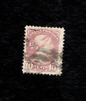 CANADA Scott #40, Used 10c  1870 Used,Dull Rose Violet Light Cancel (SEE PHOTO)