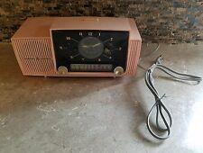 Vintage 1950's Pink General Electric Radio Model C-416C