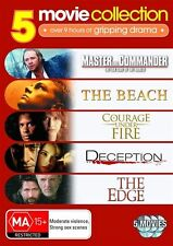 Master And Commander / The Beach / Courage Under Fire / Deception / The Edge