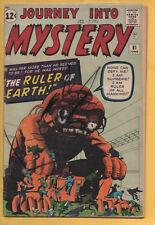 Journey into Mystery #81 Atlas/Marvel 1962 Kirby/Ditko/Stan Lee VG-