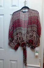 Karen Kane Romantic Journey Kimono Wrap Tie Jacket -NEW