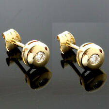 Diamond Set 18ct  Yellow Gold Stud Earrings