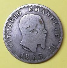 Regno d'Italia 1 lira 1863 Milano NC V.EMANUELE II