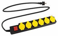 Steckdosenleiste 6-fach Mehrfachstecker Mehrfachsteckdose Outdoor IP44 Schalter