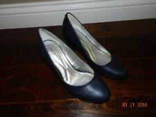 Andrew Geller Classic Pump Women Heels US 8 M Navy Blue