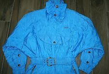 Vtg Retro Head Womans/Men  All In One Blue Patterned Ski Suit 80s 90s Belted