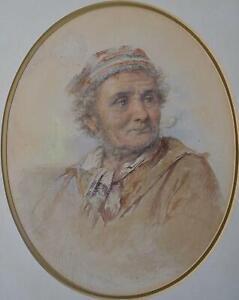 James Drummond (Scottish, 1816-1877) An Aged Seaman Watercolour 1866